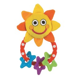 Sassy Stars and sun rattle