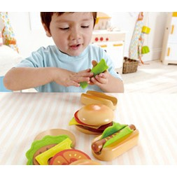 Hape Hamburger and hot dogs 18 deler