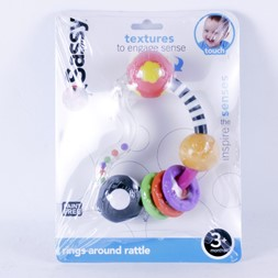 Sassy rings around rattle 3m+